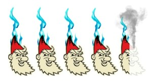 4.5 of 5 FLAMING gnomes